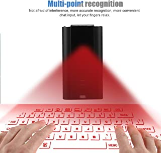 Tosuny Mini Virtual Holographic Mouse with Keyboard and Mouse Functions+ Bluetooth Speaker +Hands-Free Calling + Voice Broadcast, Wireless Projection Bluetooth Virtual Keyboard