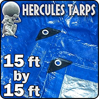 EasyGO Tarp2-15x15-1 Tent Shelter Cover Waterproof Tarpaulin Plastic Tarp 15  x 15  15x15