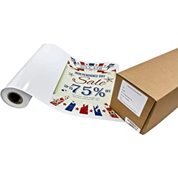 Amazon Com Photo Peel Matte Printable Adhesive Vinyl Roll 17 Inches X 10 Feet Inkjet Peel And Stick Sticker Paper Works With All Inkjet Printers Including Professional Makes And Models Like Epson