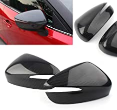 Newsmarts 2x Carbon Fiber Color Replacement Side Mirror Cover Caps Compatible with Mazda CX-5 2015-2016 Mazda CX-4 / CX-3 2016-2018