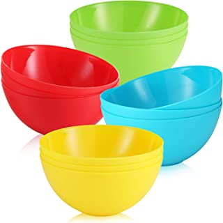 Dishwasher Safe Cereal Bowl//Dinnerware Set//Bpa Free,Eco Friendly//perfect For Soup Rice Noodle Ramen Salad and Pasta Microwave 4 Pack Wheat Straw Plastic Bowls-unbreakable-reusable Large 32 Ounce
