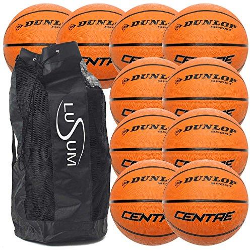 10 x dunlop centre basketballs