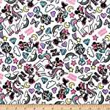 Camelot Fabrics 0673903 Minnie Mouse I Believe in Unicorns