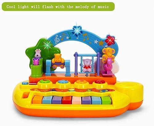 Glückliche Tierbühne Regenbogen Leichte Kinder Klaviertastatur 3-12 Jahre Baby 8 Schlüssel Elektronische Tastatur