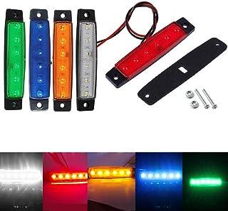 Feeilty Auto Seitenlichter 10 Stück 12V SMD 6 LED Heck Seitliche Begrenzungsleuchte Position Anhänger Lkw   Gelb, 24V