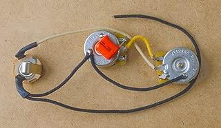 Precision Bass Wiring Harness & Knobs P Bass-CTS Brass Shafts-Orange Drop-Switchcraft