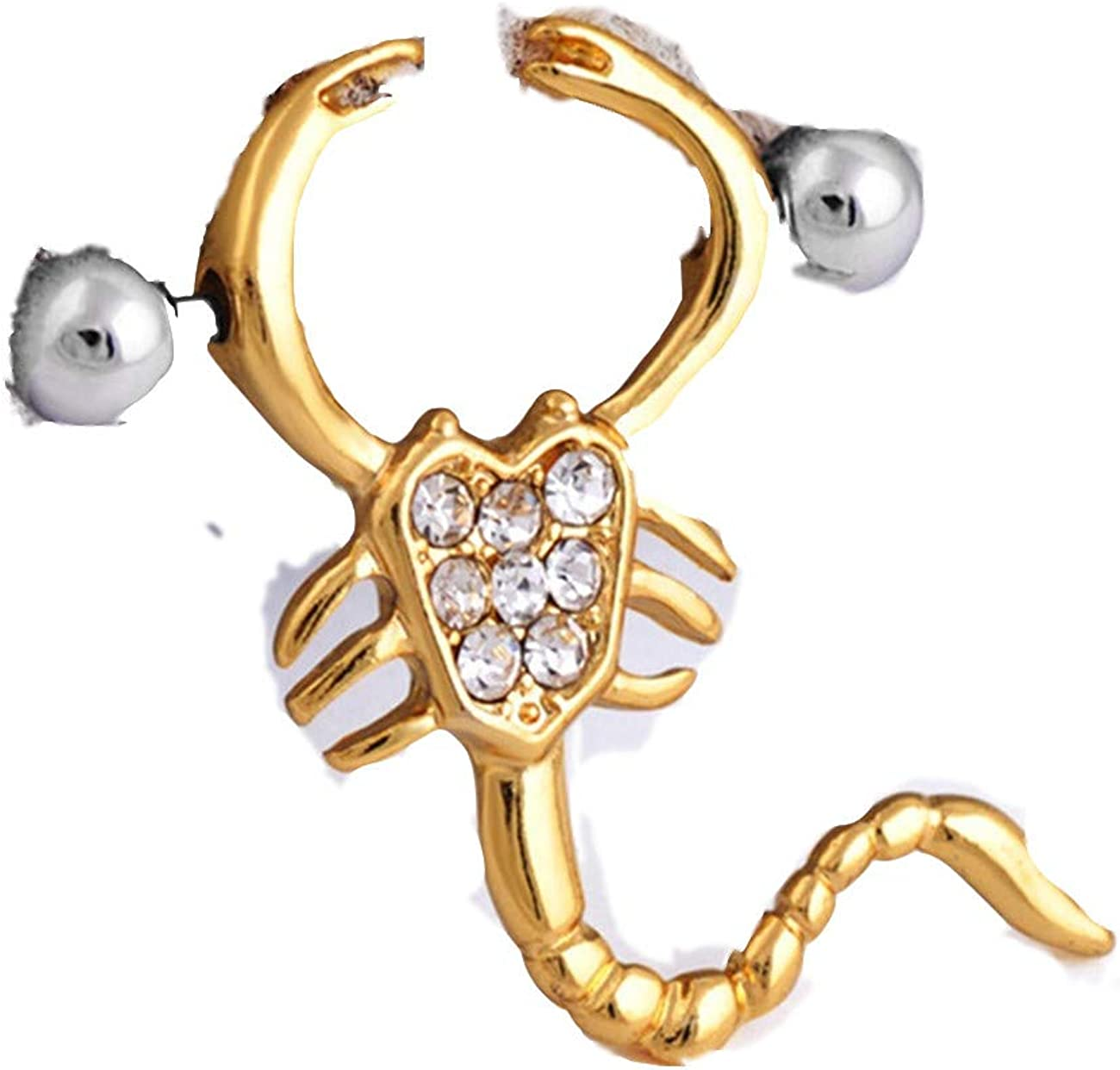 ZALING Surgical Steel Sexy Scorpions Nipple Rings Barbell Body Piercing Jewelry Gold