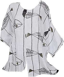 Leins Kleid Tunika Bluse Shirt Top Lagenlook Longshirt A-Linie Schwarz XL 42 44
