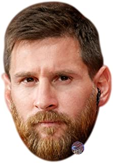 Lionel Messi (Beard) Celebrity Mask, Card Face and Fancy Dress Mask