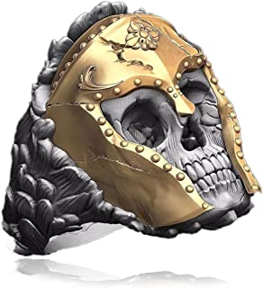MYLY Skull Rings for Men,Stainless Steel Punk Rings for Men,Biker Punk Rings,Cool Rings for Men