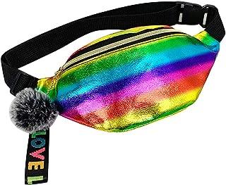 LANGMAN 2020 New Glitter Pack Sparkly Waist Bag Shine Waist Pack for Travel Beach Shoulder Bag Outdoor Belt Bags (Multicolor)