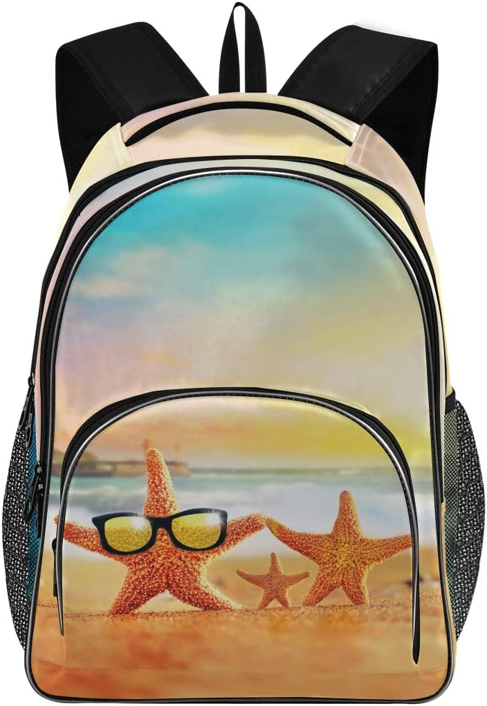 ALAZA Palm Trees Hawaiian Tropical Seashore Beach Travel Laptop Backpack Gifts for Men Women Fits 15.6 Inch Notebook
