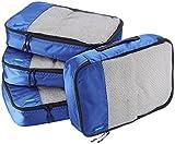 AmazonBasics - Bolsas de equipaje medianas (4 unidades), Azul
