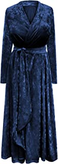 Plus Size Ice Velvet Robe with Attached Belt