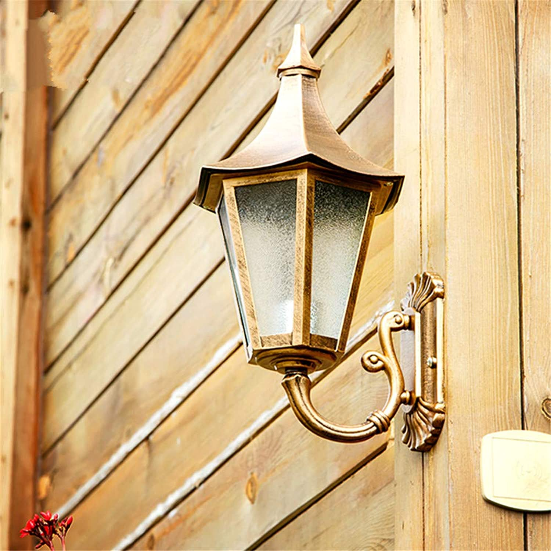 HRCxue Auenwandleuchten Europische Auenwandleuchte Europische wasserdichte Auenbeleuchtung kreative Gartenlampe Amerikanischer Balkon Treppenauenwandlampe, RotgusskorrosionsBestendig