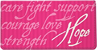 Snaptotes Breast Cancer Awareness Inspirational Words Pink Ribbon Checkbook Cover
