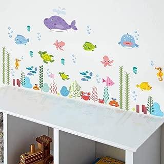 Pegatinas de Pared Bricolaje peces de mar submarino Tortuga Espuma baño Salón Cocina Dormitorio Kids Art Deco Póster de vinilo PVC