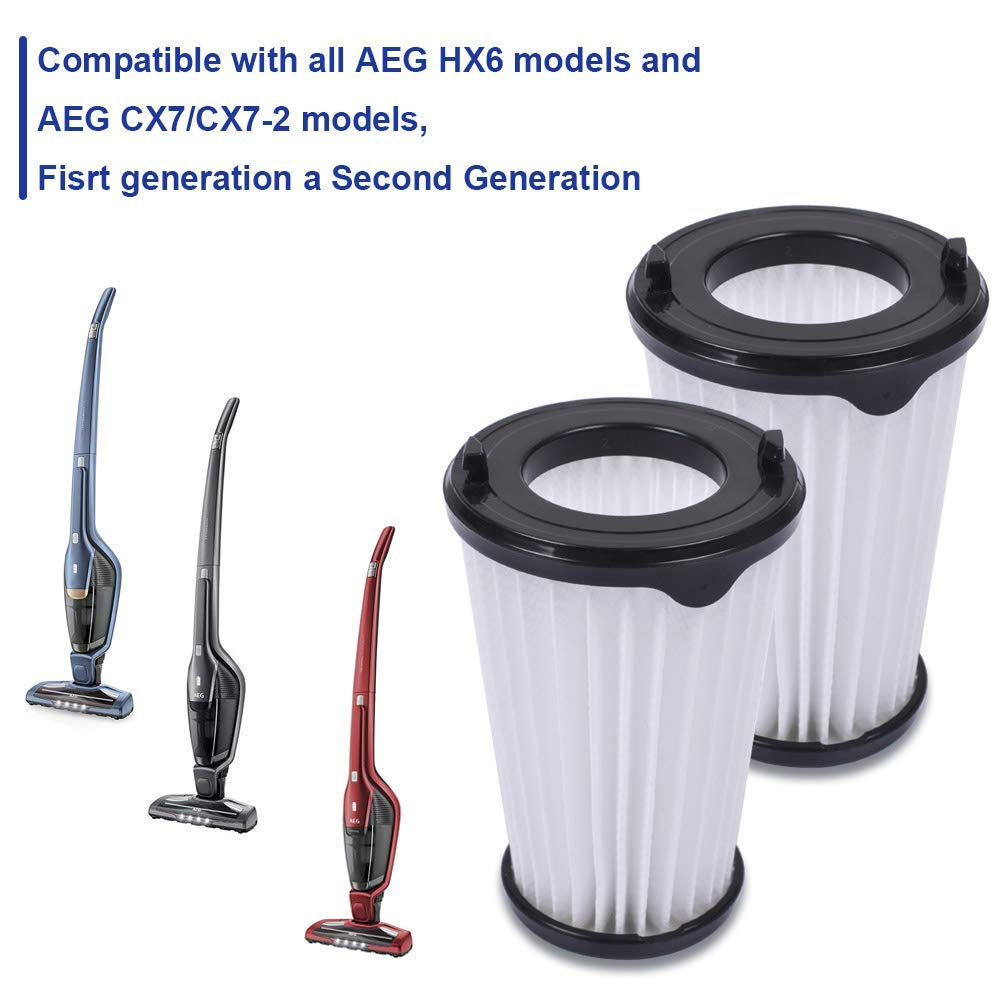 4 Filtros para Aspiradora Ergorapido AEG CX7 CX7-2 para todos los ...