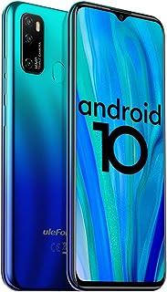 "Unlocked Smartphones Ulefone Note 9P, 16MP + 5MP + 2MP, Dual Sim Phones Unlocked, Andorid 10 4GB+64GB ROM, 6.52"" FHD, Fingerprint Face Detection, 4500mAh high Capacity Battery, AT&T, T-Mobile - Blue"