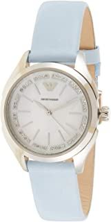 Emporio Armani Women's Mother of Pearl Dial Leather Band Watch - AR11032