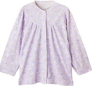 婦人介護用パジャマ オムツ交換や着替えがラクにできます パープル サイズM