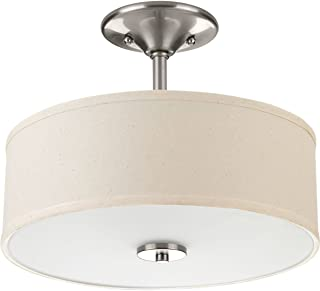 Progress Lighting P3712-09 Inspire Two-Light Semi-Flush, Brushed Nickel