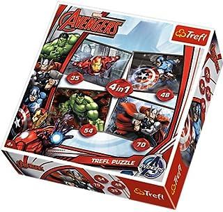Trefl - 34245 - Puzzle - 4 en 1 - Disney Marvel Avengers
