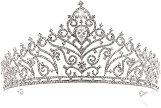 Dongyu Corona, Diadema Nuziale Moda Strass Oro Femminile Abito da Sposa Accessori for Capelli Accessori Principessa (Color...