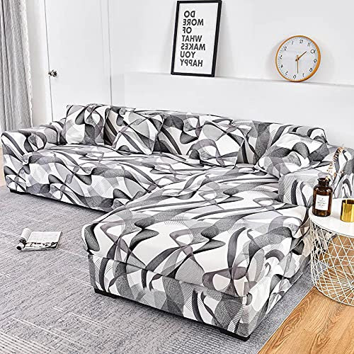 LIWENFU Sofa-Cover-elastische Couch-Cover-Sektionsstuhlabdeckung Es braucht Ordnung 2pieces-Sofa-Cover Wenn Ihr Sofa Eck-L-Form-Sofa ist (Color : Color26, Specification : 3 Seater 190 230cm)