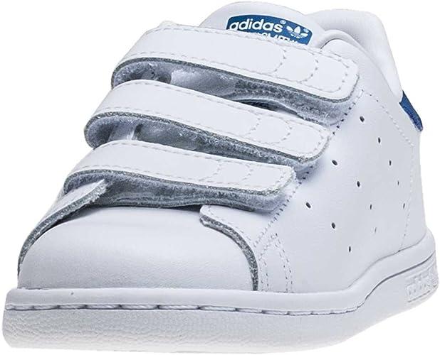 Adidas Stan Smith Cf I Tout Petit Baskets blanc bleu - K8 UK