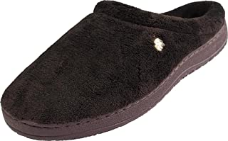Men's Microsuede Clog with Plaid Fleece Lining