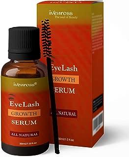 Ivenross Eyelash Growth Serum For Thicker & Fuller All Natural (Non-Toxic) With Eyelash Brush (30ml)