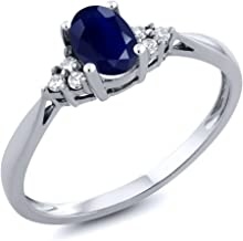 Best white gold diamond sapphire engagement ring Reviews
