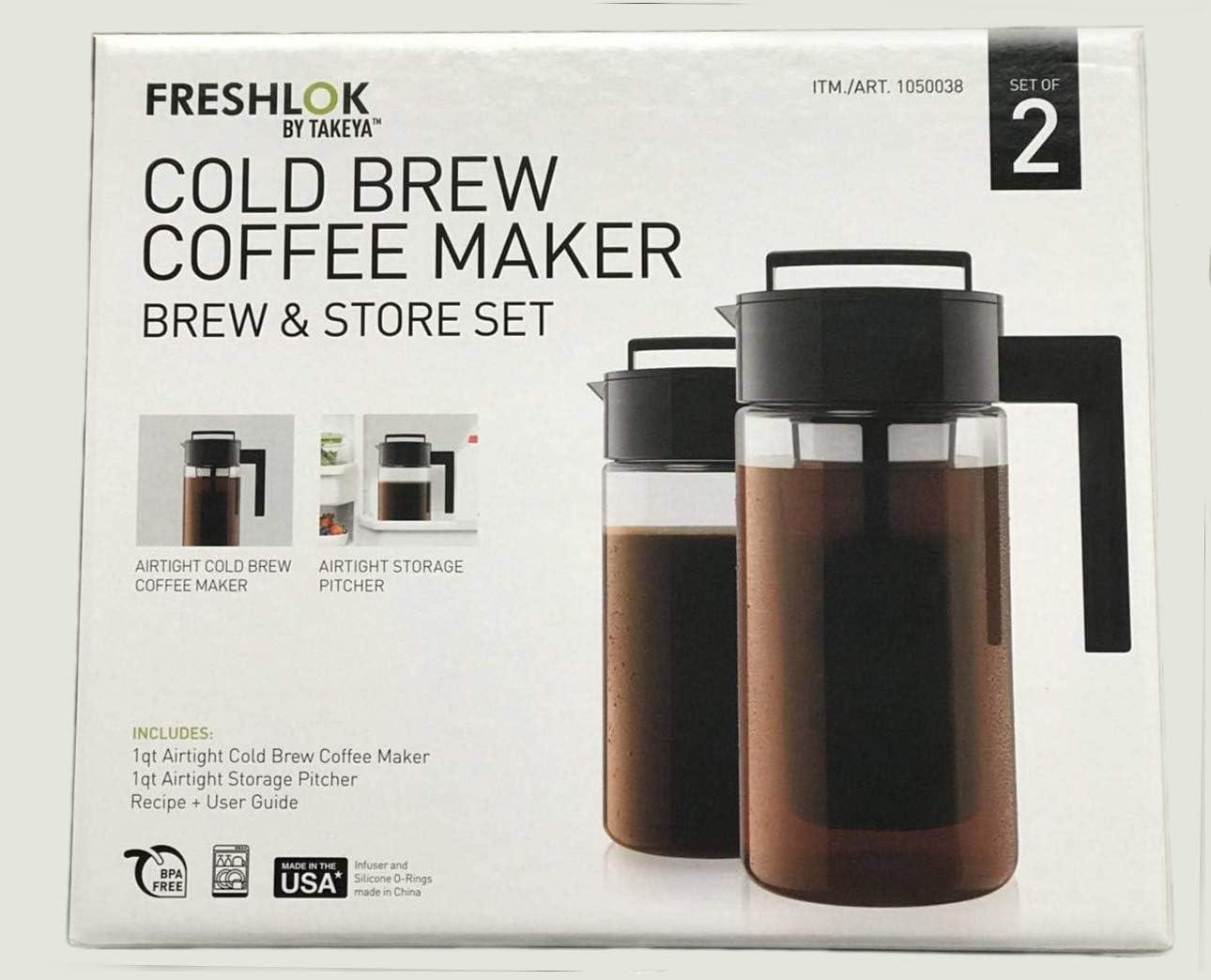 Takeya Cold Brew Iced Coffee Maker, 1-Quart, Black (2)