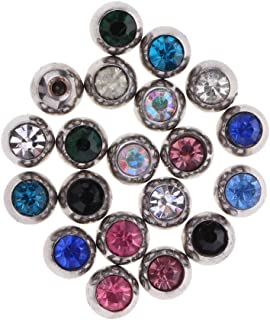 F Fityle 20 Pieces Stainless Steel Body Jewelry Replacement Ball for Belly Ring Tongue Lip Tragus Barbell Screw