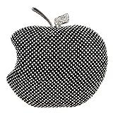 Bonjanvye Apple Shape Purse Brand Bags For Girls Handmade Clutches Black