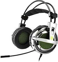 Sades Auriculares para juegos, SA-928 estéreo ligero PC Gaming auriculares Jack de 3,5 mm con micrófono para Laptop PC/MAC...