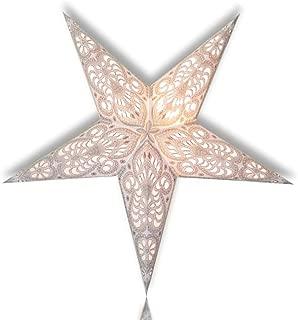 Happy Sales HSSL-FAWHTB Frozen Aurora Paper Star Lantern White,