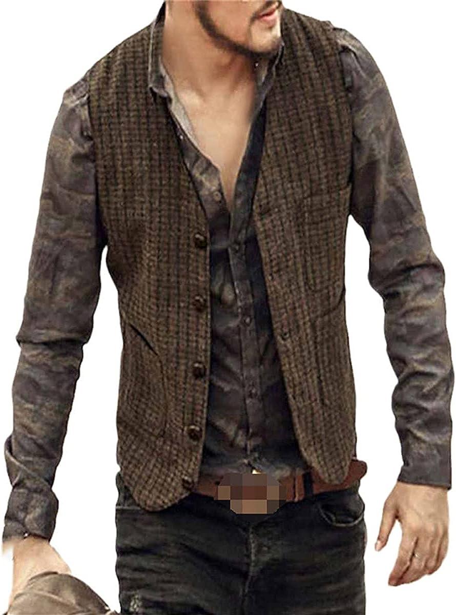 Men's V-neck suit vest fashion fit suit vest vest steampunk