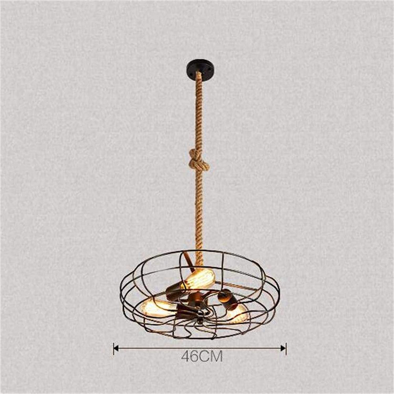 FuweiEncore Loft Industrial Retro-Stil Nostalgie Bar Restaurant Kronleuchter Fan Nicht die Lichtquelle (Abmessungen  ) (Farbe   L)