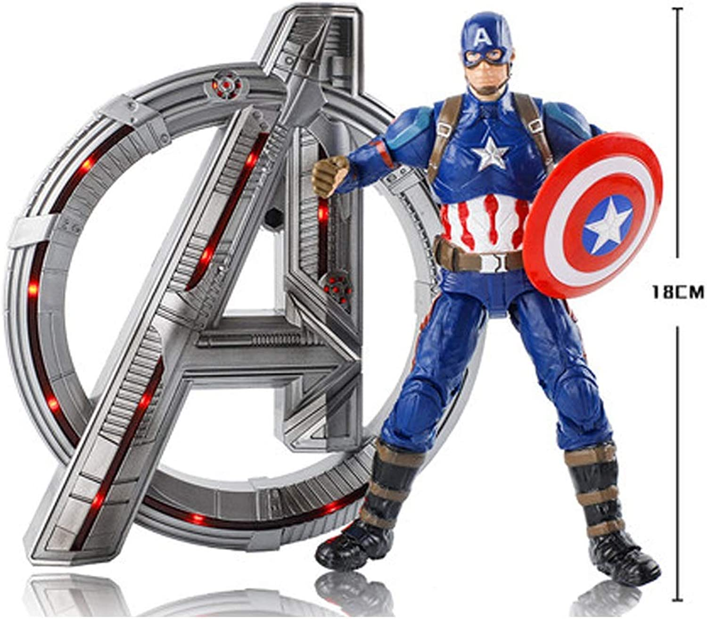 HYYSH Captain America Avengers 4 giocattolo modello Base può illuminare 18 Cm