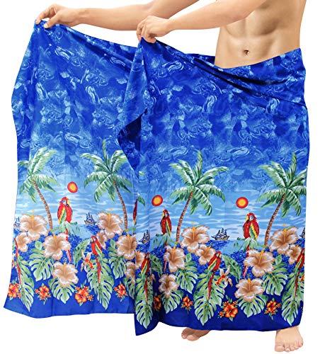 LA LEELA Sarong Pareo para Cubrir la Piel del Abrigo Hombres Ropa de Playa de baño Traje de baño...