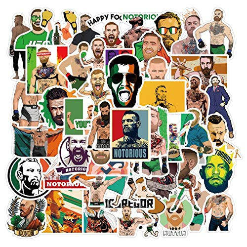 YZFCL Fighting Athlete Connor Mcgregor Graffiti Waterproof Skateboard Travel Suitcase Phone Laptop Luggage Stickers Cute Kids 50Pcs