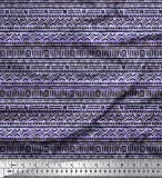 Soimoi Blau Seide Stoff geometrisch afrikanisch Stoff