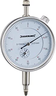 Silverline 196521 Comparateur à cadran métrique 0-10 mm