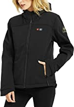 Ptahdus Women's Heated Jacket Soft Shell with Hand Warmer, with 7.4V Battery Pack