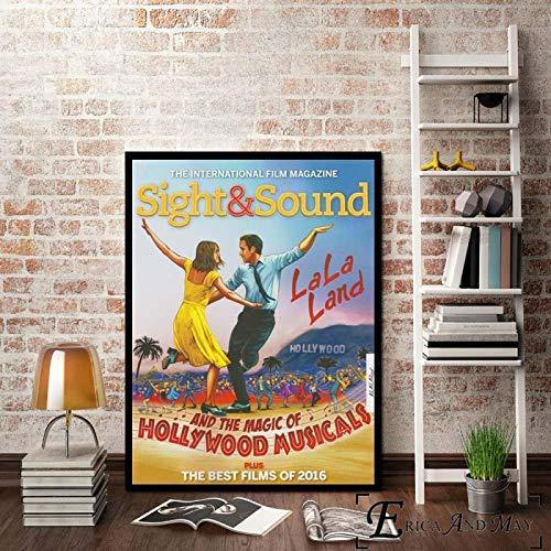 zhuifengshaonian Póster de Arte de película Musical La La Land, Impresiones de Pintura al óleo sobre Lienzo, murales artísticos de Pared, imágenes para la decoración(Zt-2413) Sin Marco Poster 50x70cm