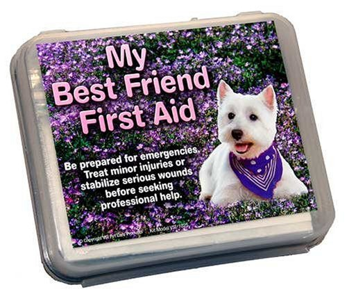 My Best Friend Small Dog First Aid Kit Pink Neon Travel Bag