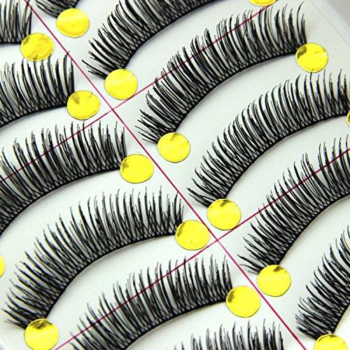 MEYLEE Cils naturels à Paires Noir Long épais Souple réutilisable 20