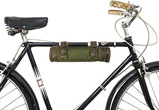 Hide & Drink Water Resistant Canvas Bike Pack Tube Handmade Olive